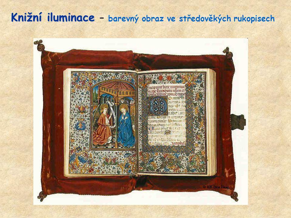 Knižní iluminace – barevný obraz ve středověkých rukopisech