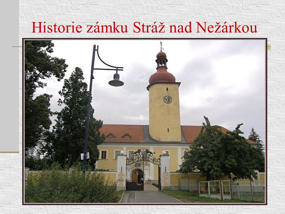 Historie zámku Stráž nad Nežárkou