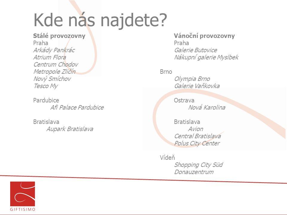 Kde nás najdete Stálé provozovny Vánoční provozovny Praha Praha