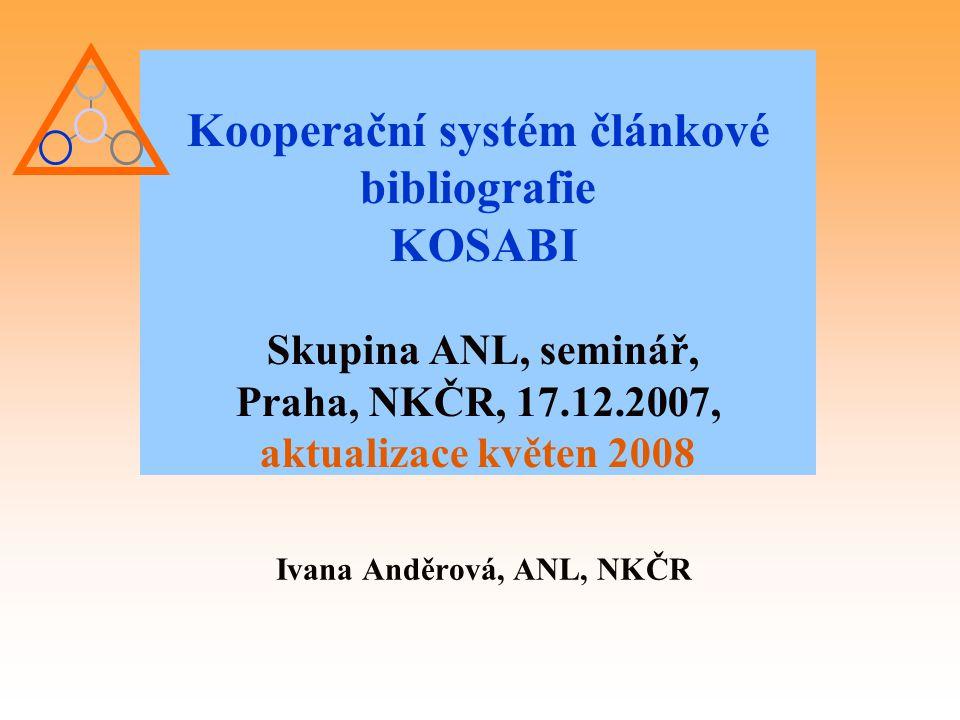 Ivana Anděrová, ANL, NKČR