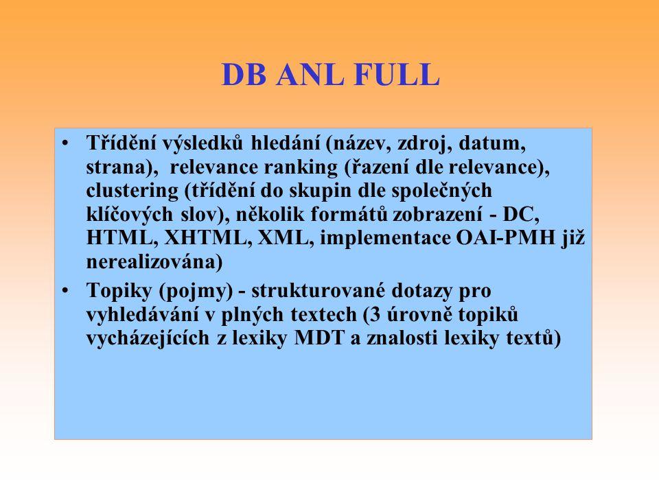 DB ANL FULL