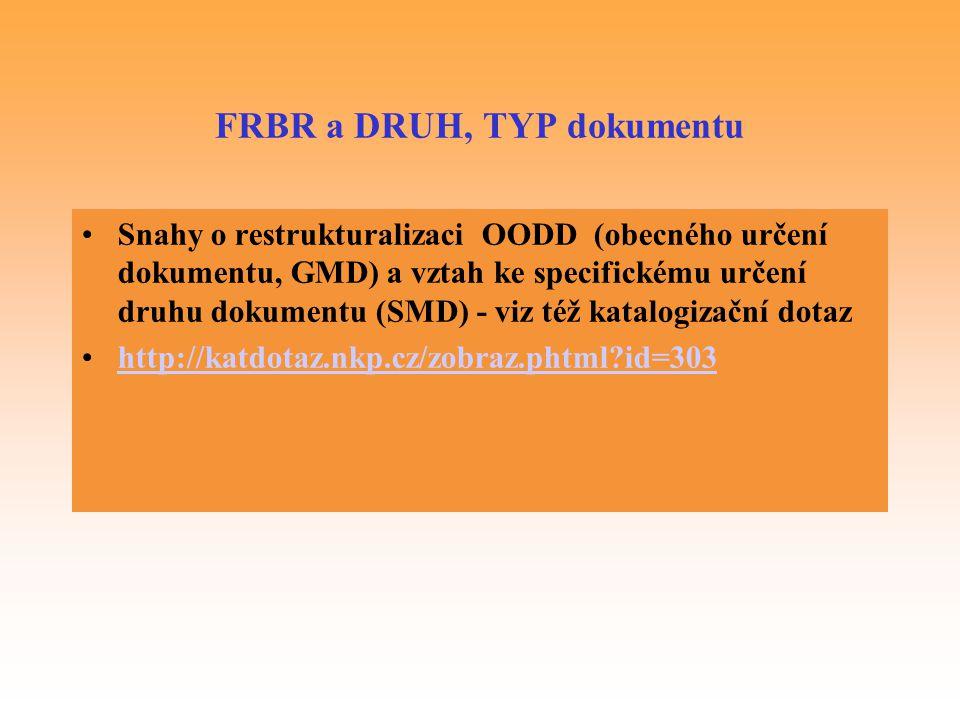 FRBR a DRUH, TYP dokumentu