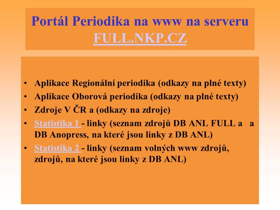 Portál Periodika na www na serveru FULL.NKP.CZ