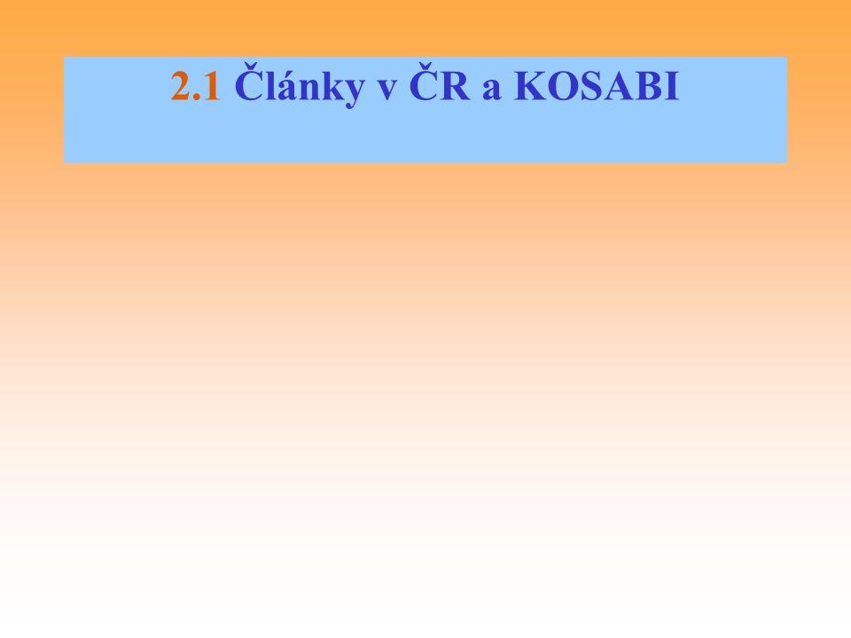 2.1 Články v ČR a KOSABI