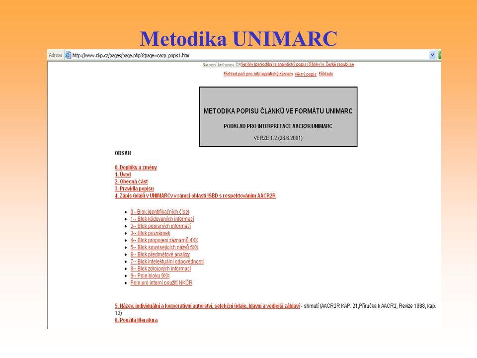 Metodika UNIMARC