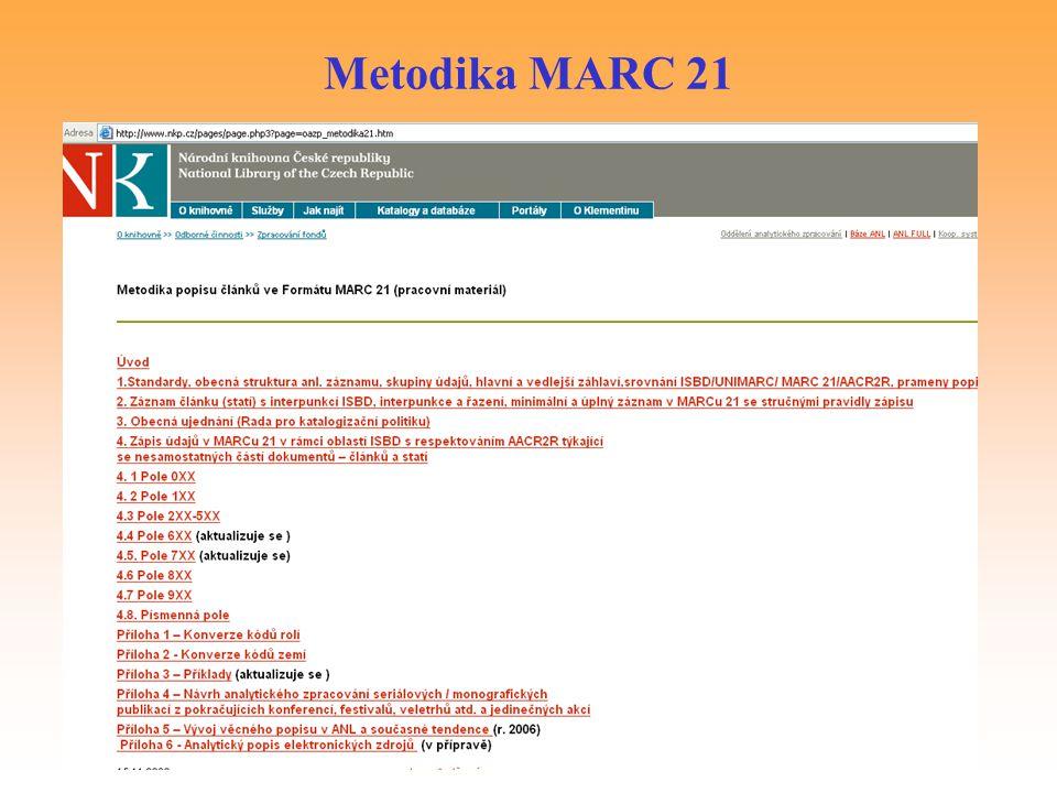 Metodika MARC 21