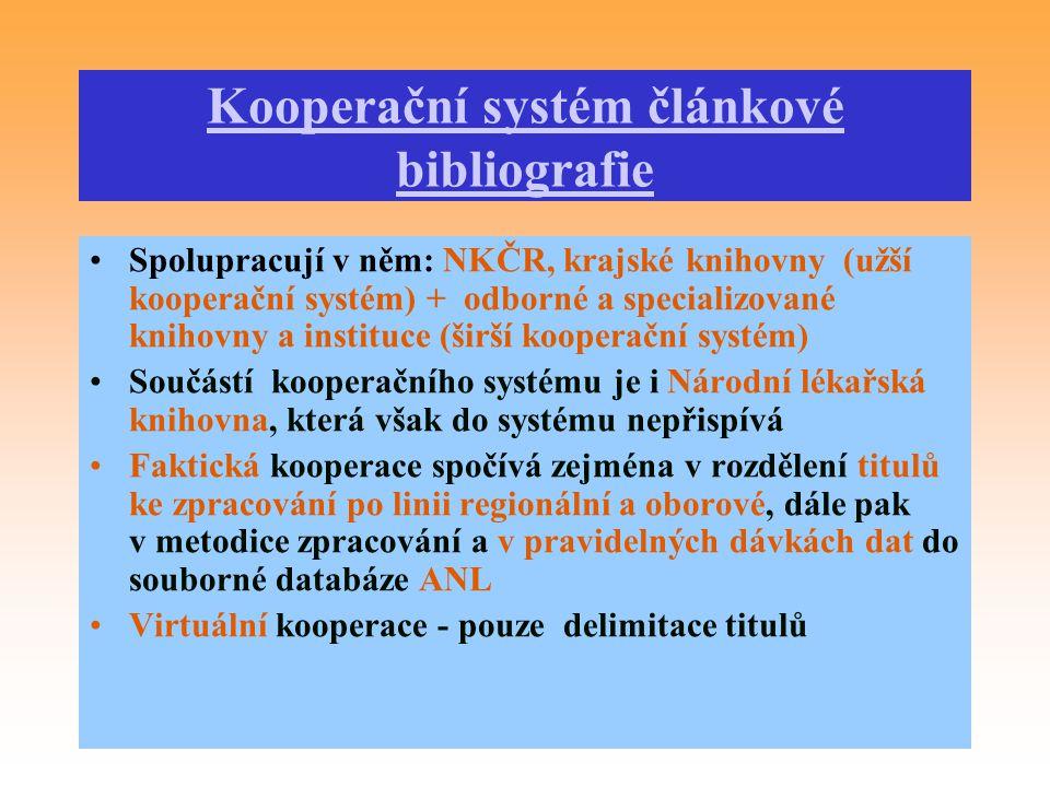 Kooperační systém článkové bibliografie