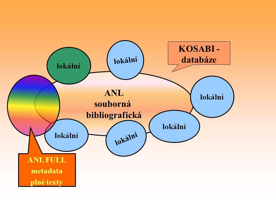 KOSABI - databáze ANL souborná bibliografická