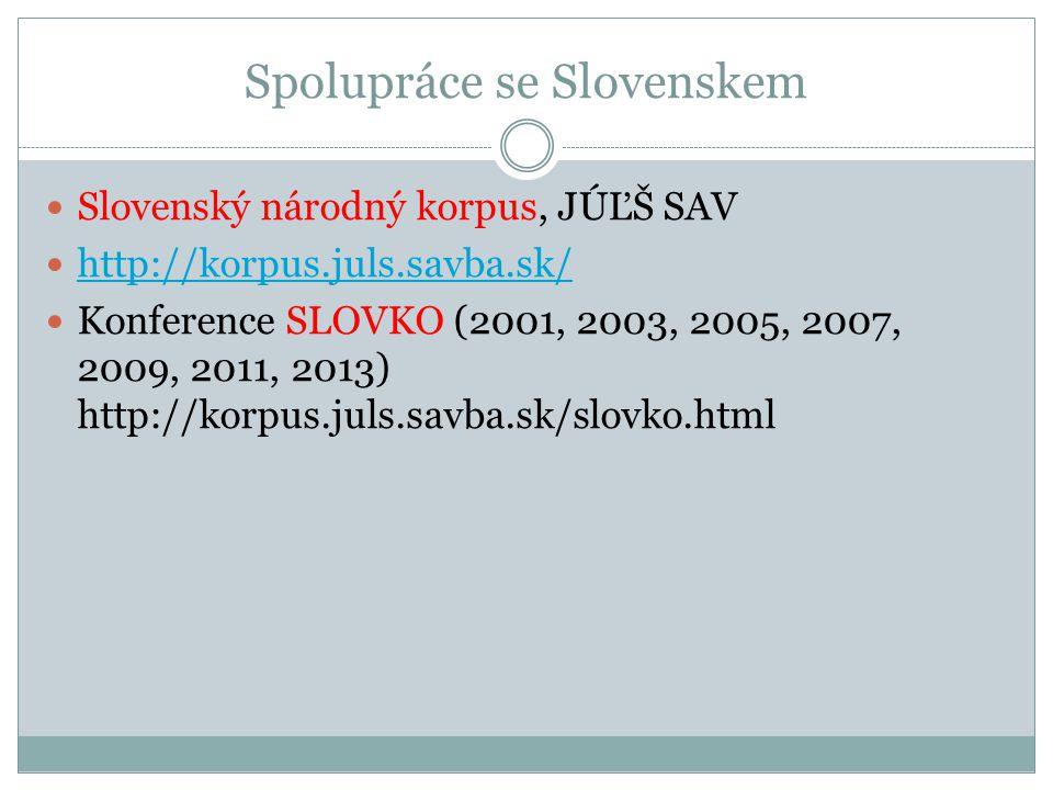 Spolupráce se Slovenskem
