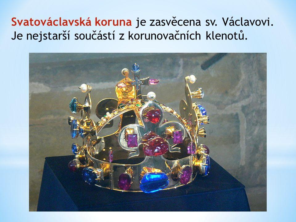 Svatováclavská koruna je zasvěcena sv. Václavovi