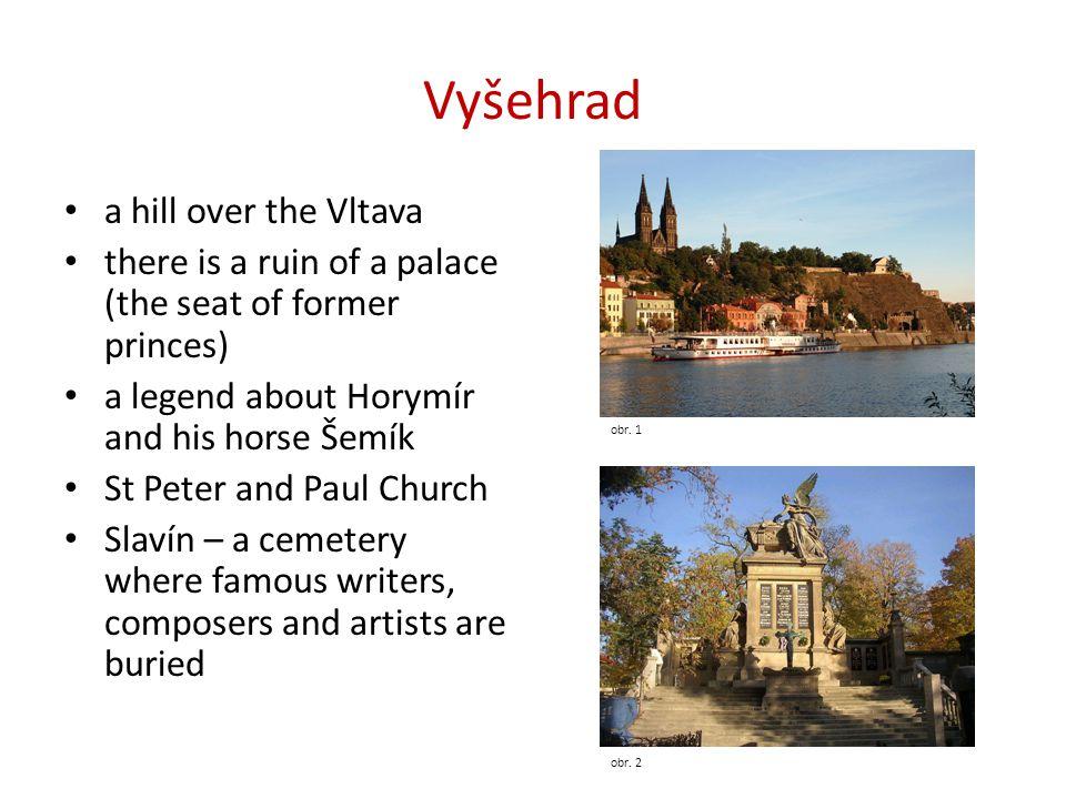 Vyšehrad a hill over the Vltava