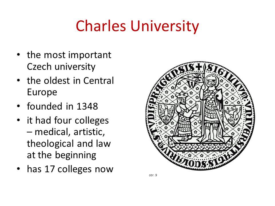 Charles University the most important Czech university