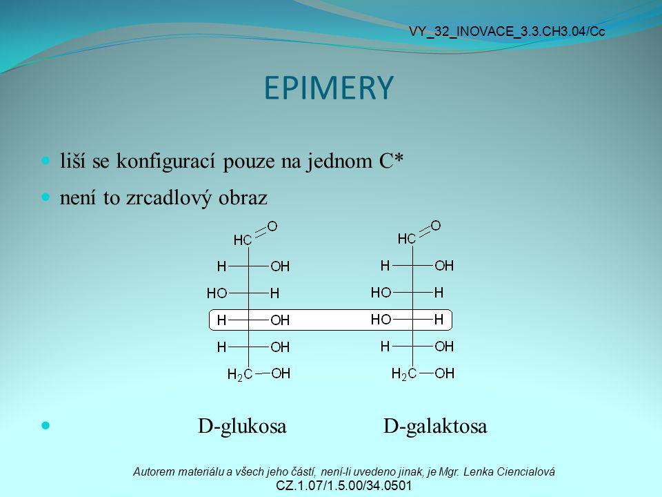 EPIMERY liší se konfigurací pouze na jednom C* není to zrcadlový obraz
