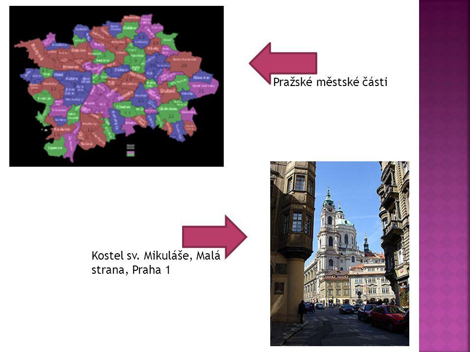 Pražské městské části Kostel sv. Mikuláše, Malá strana, Praha 1