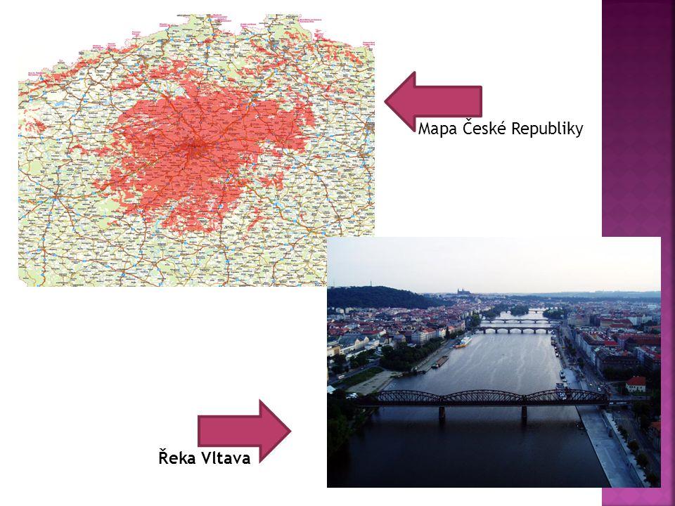 Mapa České Republiky Řeka Vltava