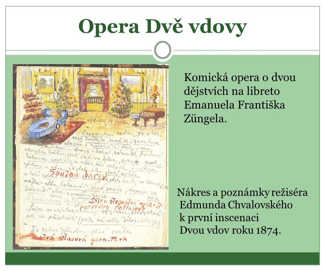 Opera Dvě vdovy Komická opera o dvou dějstvích na libreto