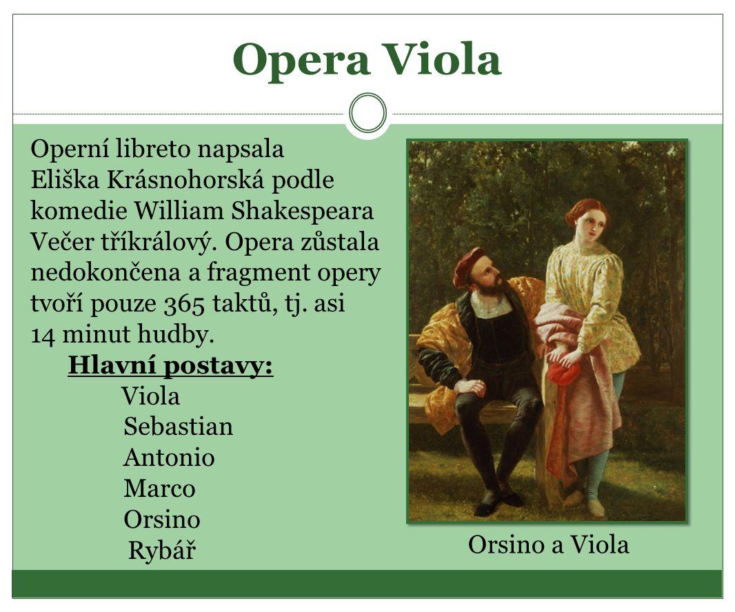Opera Viola Operní libreto napsala