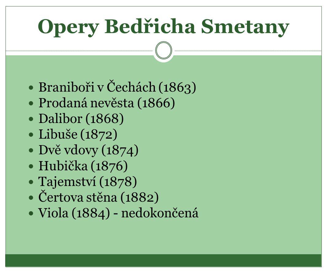 Opery Bedřicha Smetany