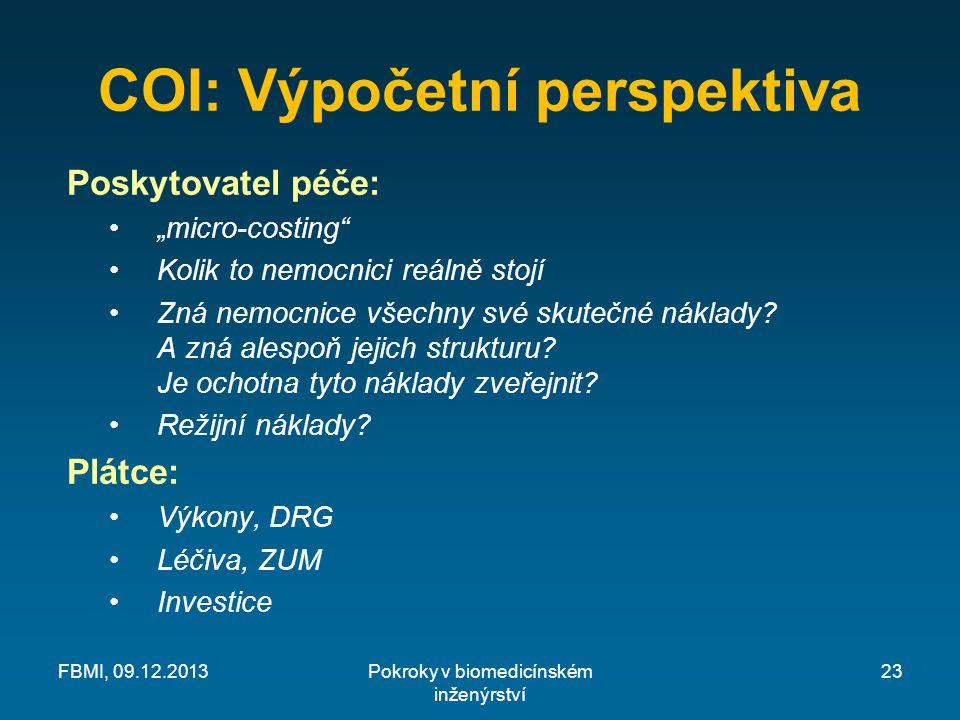 COI: Výpočetní perspektiva