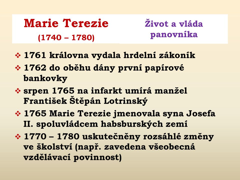 1761 královna vydala hrdelní zákoník
