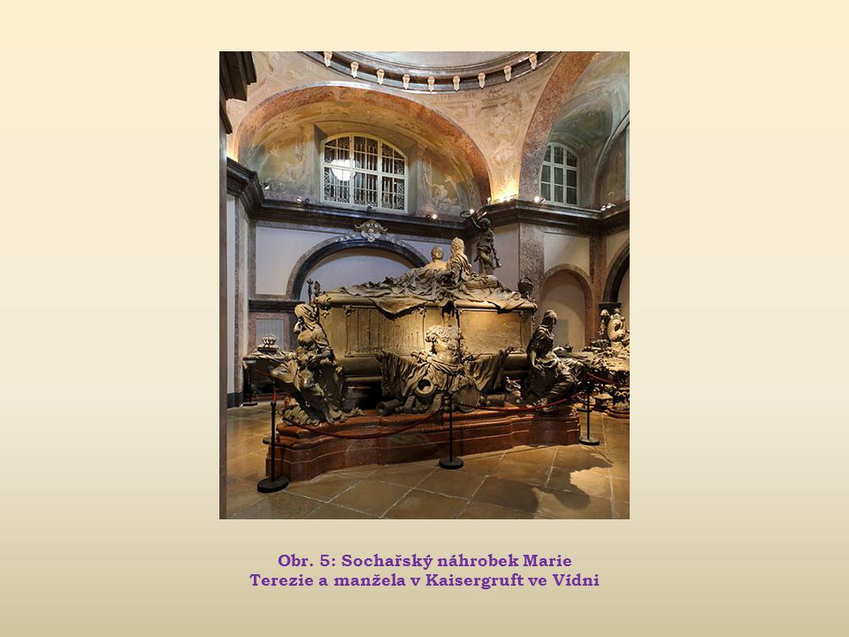 Obr. 5: Sochařský náhrobek Marie Terezie a manžela v Kaisergruft ve Vídni