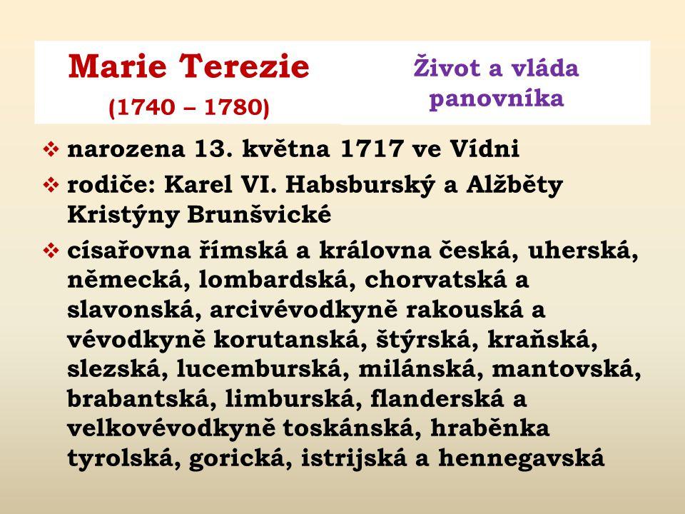 narozena 13. května 1717 ve Vídni