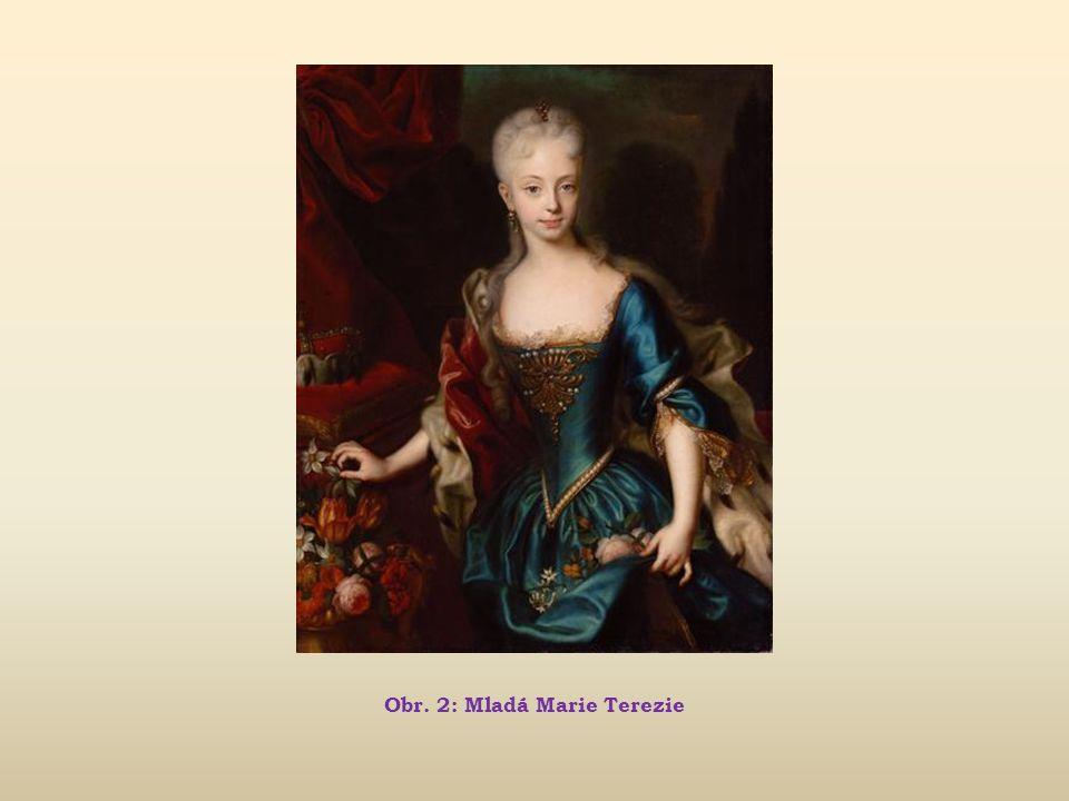 Obr. 2: Mladá Marie Terezie
