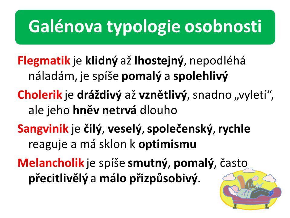Galénova typologie osobnosti
