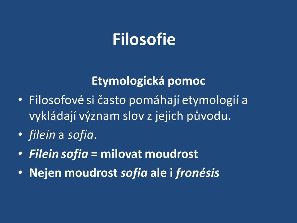 Filosofie Etymologická pomoc