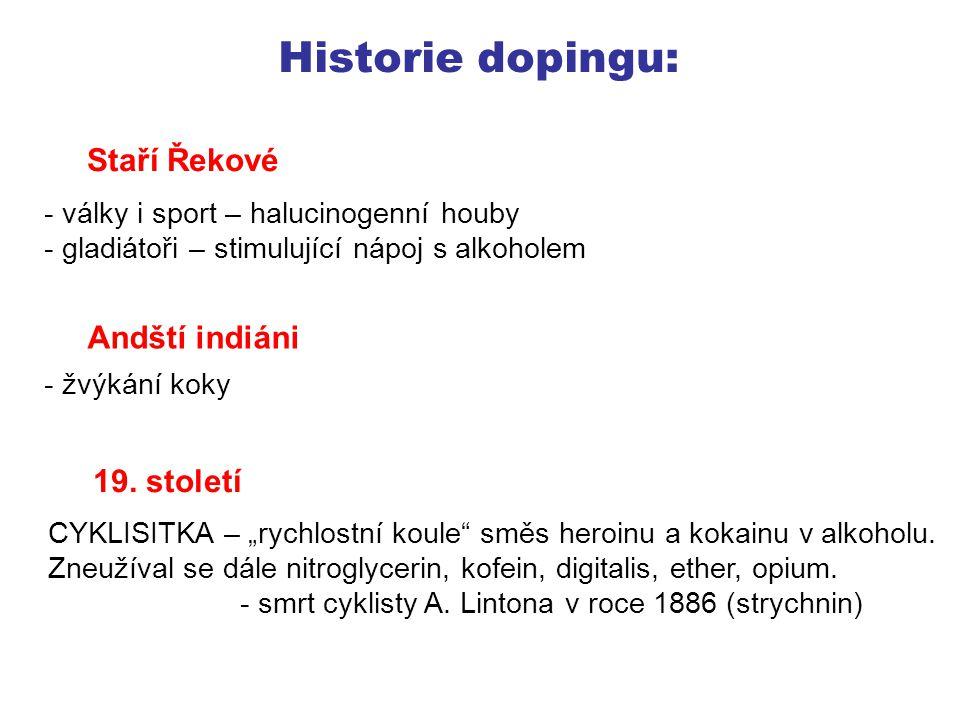 Historie dopingu: Staří Řekové Andští indiáni 19. století