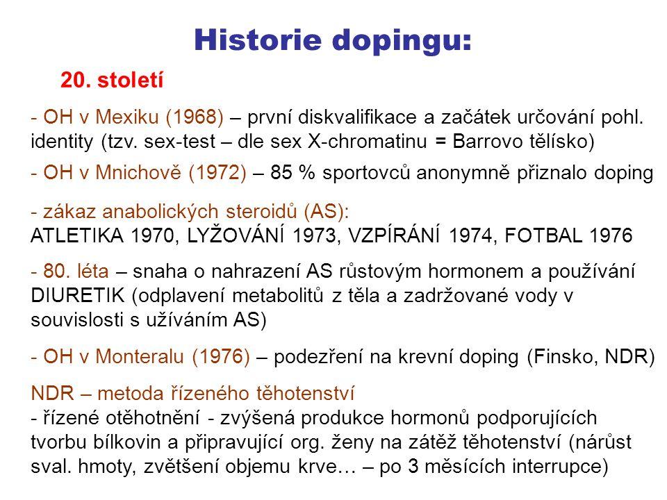 Historie dopingu: 20. století
