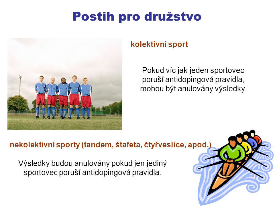 Postih pro družstvo kolektivní sport
