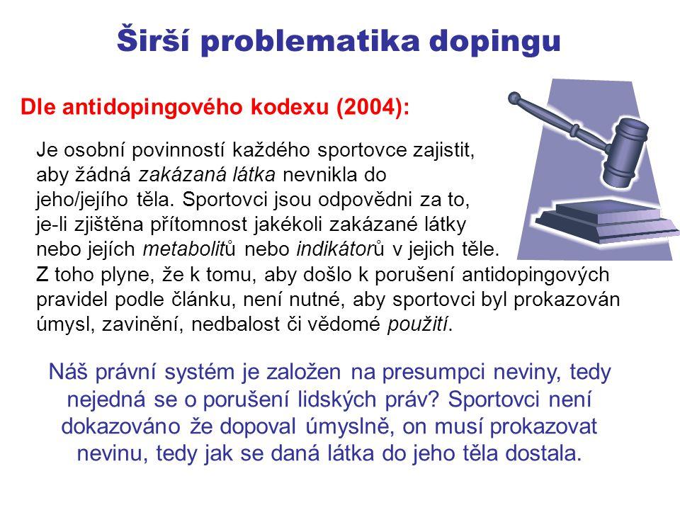 Širší problematika dopingu