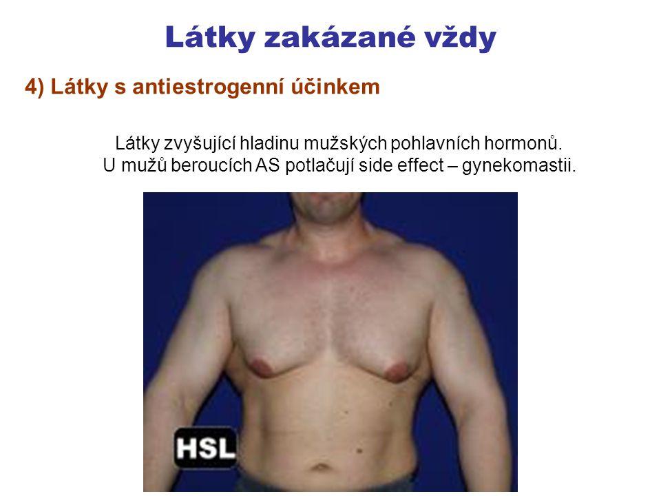 Látky zakázané vždy 4) Látky s antiestrogenní účinkem