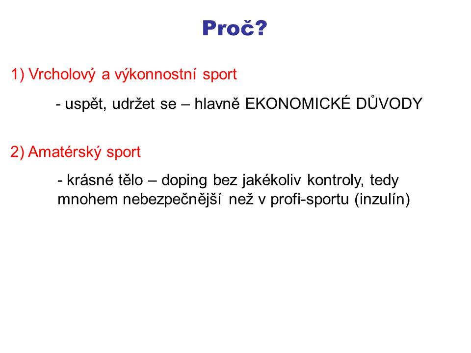 Proč 1) Vrcholový a výkonnostní sport