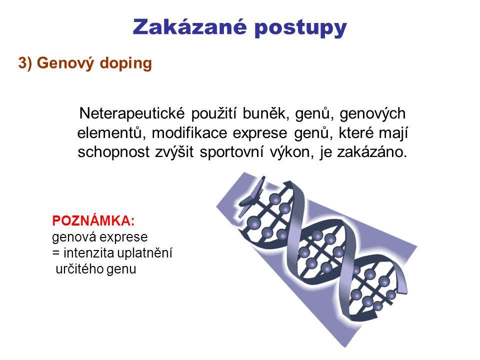 Zakázané postupy 3) Genový doping