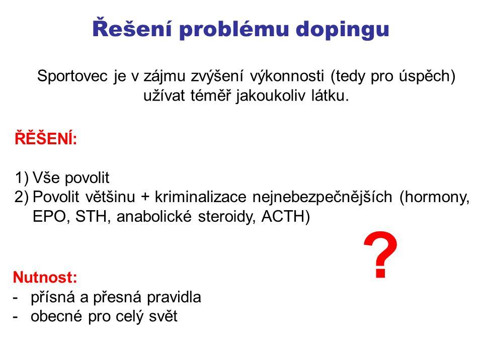 Řešení problému dopingu