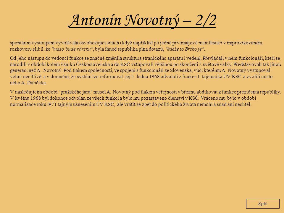 Antonín Novotný – 2/2