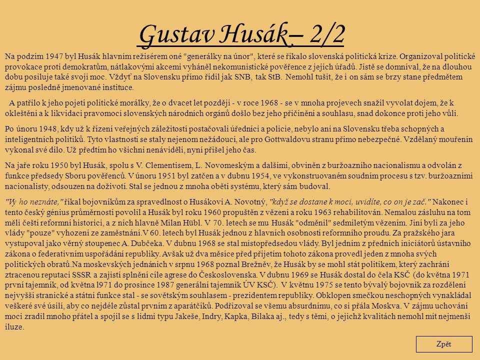 Gustav Husák– 2/2