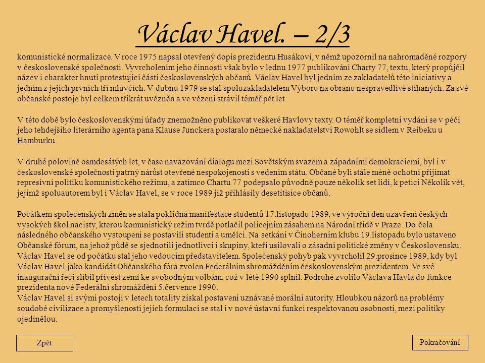 Václav Havel. – 2/3