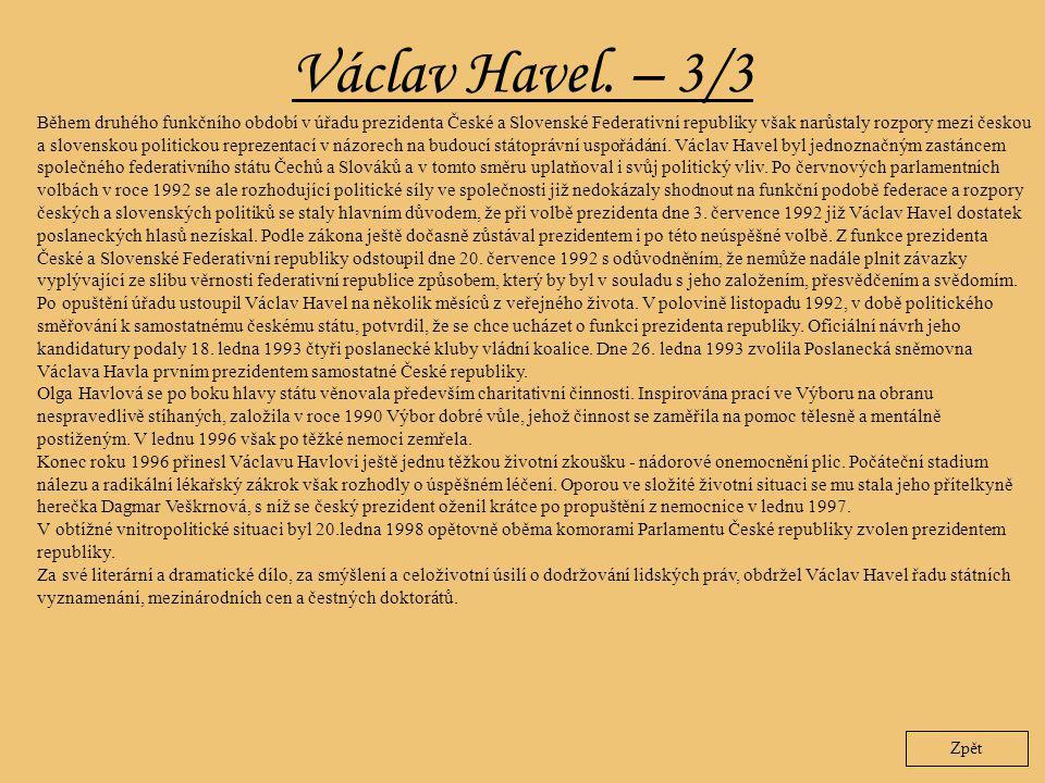 Václav Havel. – 3/3