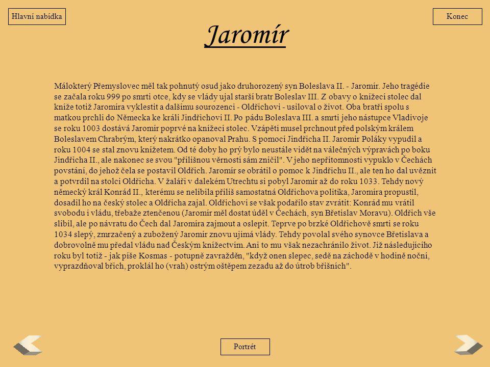 Hlavní nabídka Konec. Jaromír.