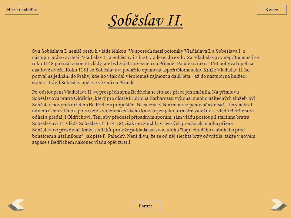 Hlavní nabídka Konec. Soběslav II.