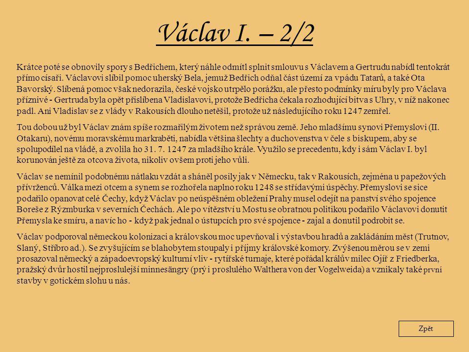 Václav I. – 2/2