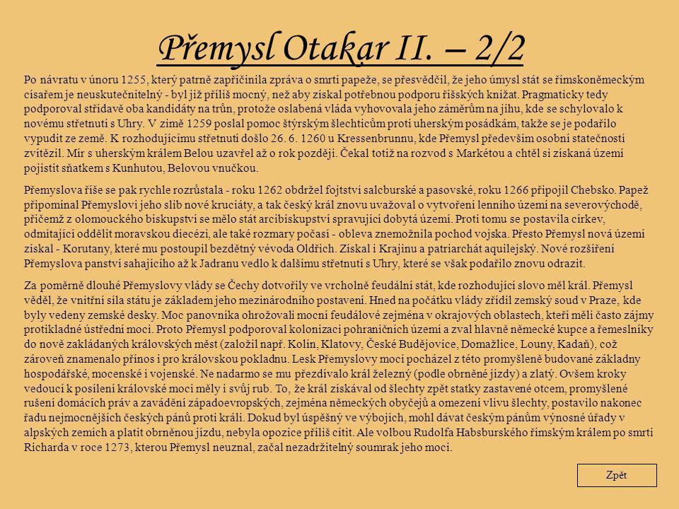 Přemysl Otakar II. – 2/2