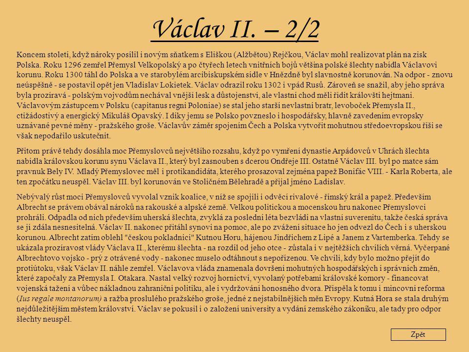 Václav II. – 2/2