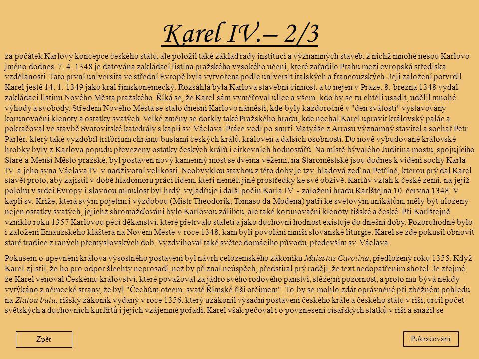 Karel IV.– 2/3