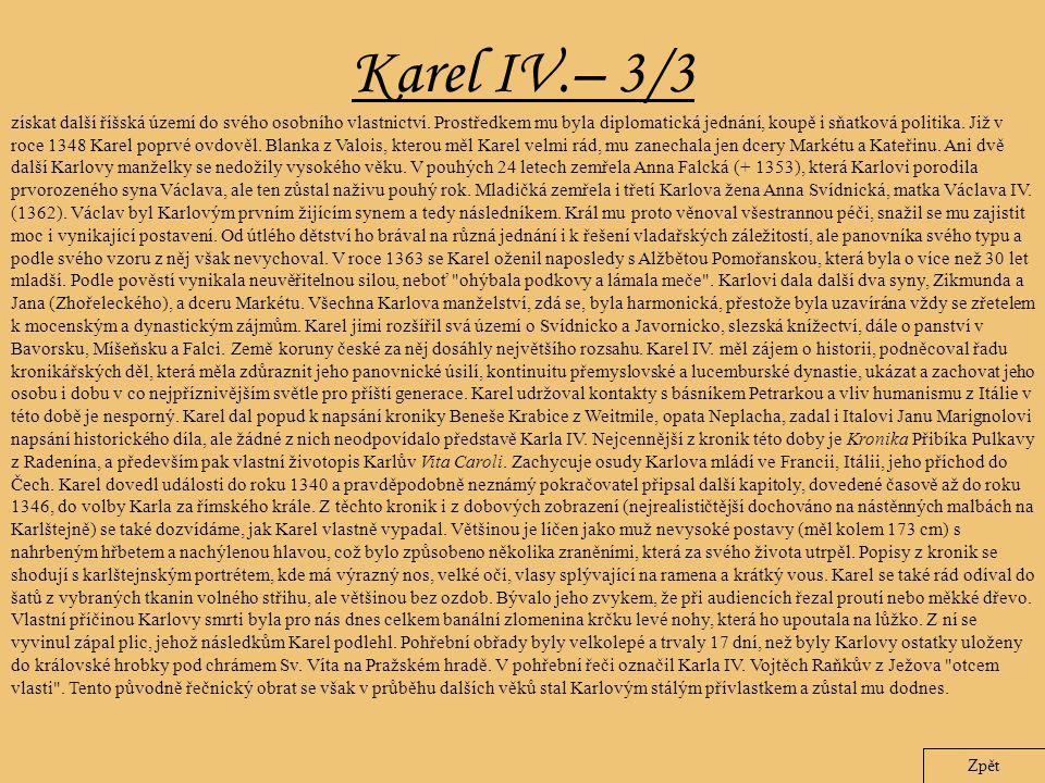 Karel IV.– 3/3