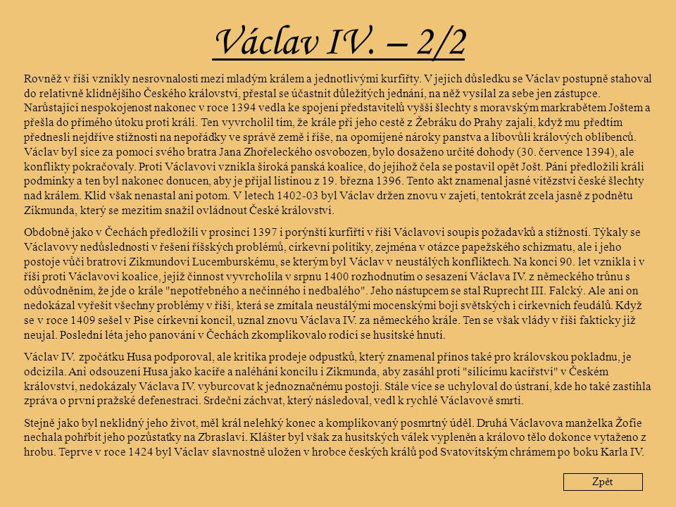 Václav IV. – 2/2