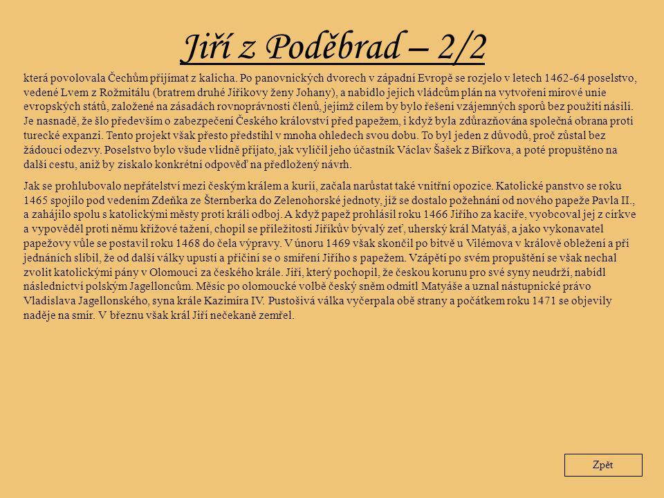 Jiří z Poděbrad – 2/2